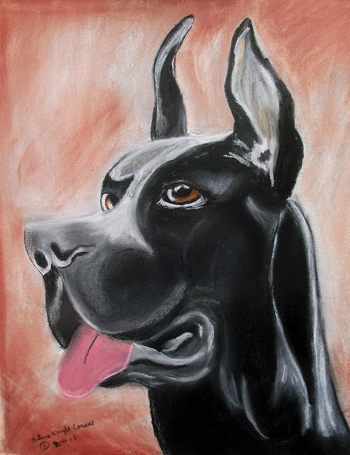 Rosie The Great Dane Pastel  - Rosie The Great Dane Fine Art Print