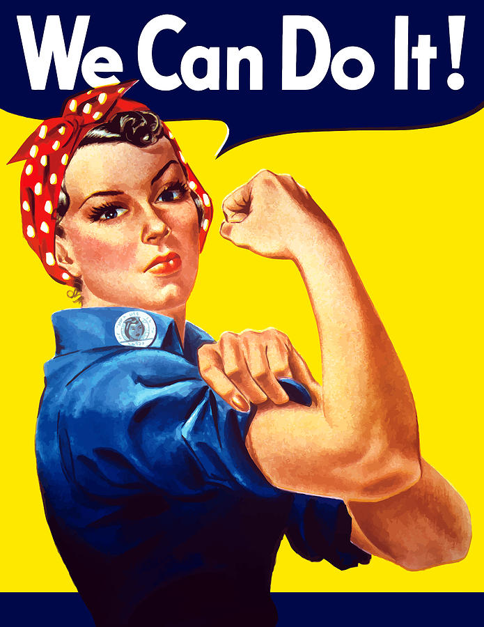 Rosie The Rivetor Painting  - Rosie The Rivetor Fine Art Print