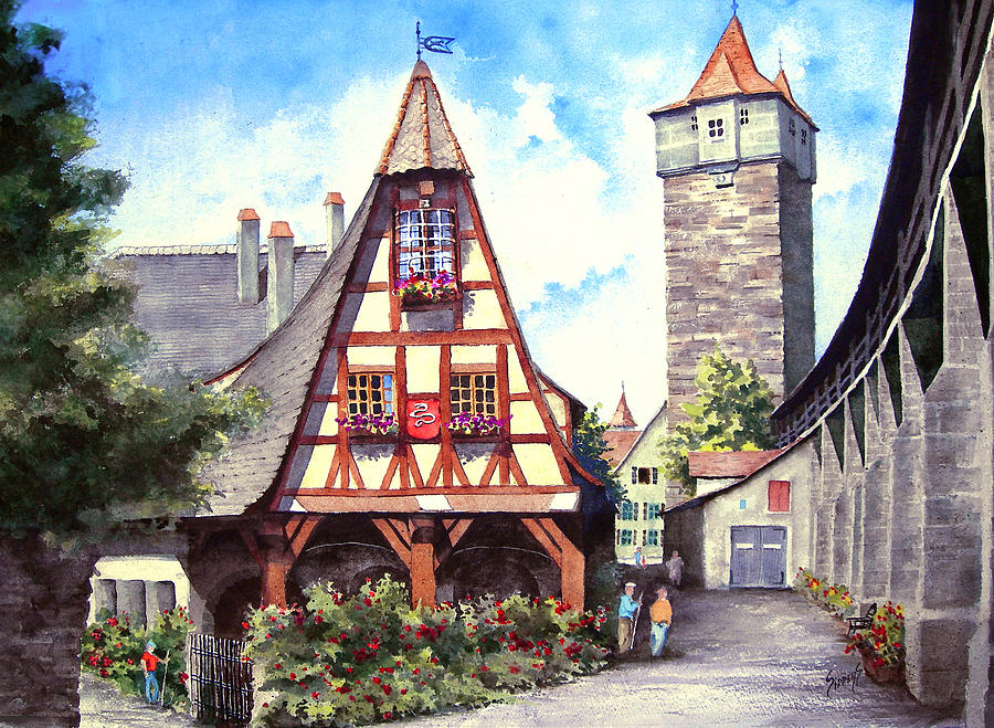 Rothenburg Memories Painting