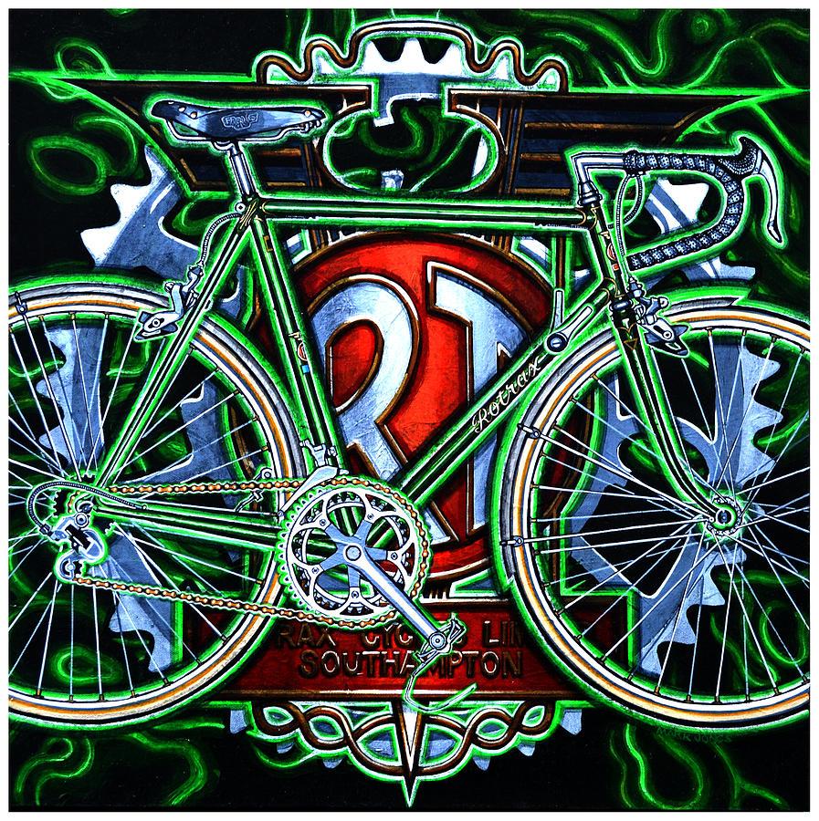 Bicycle Painting - Rotrax by Mark Howard Jones