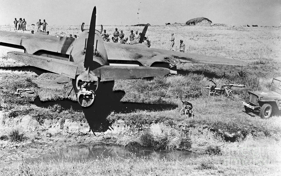 Rough Landing 1943 Photograph