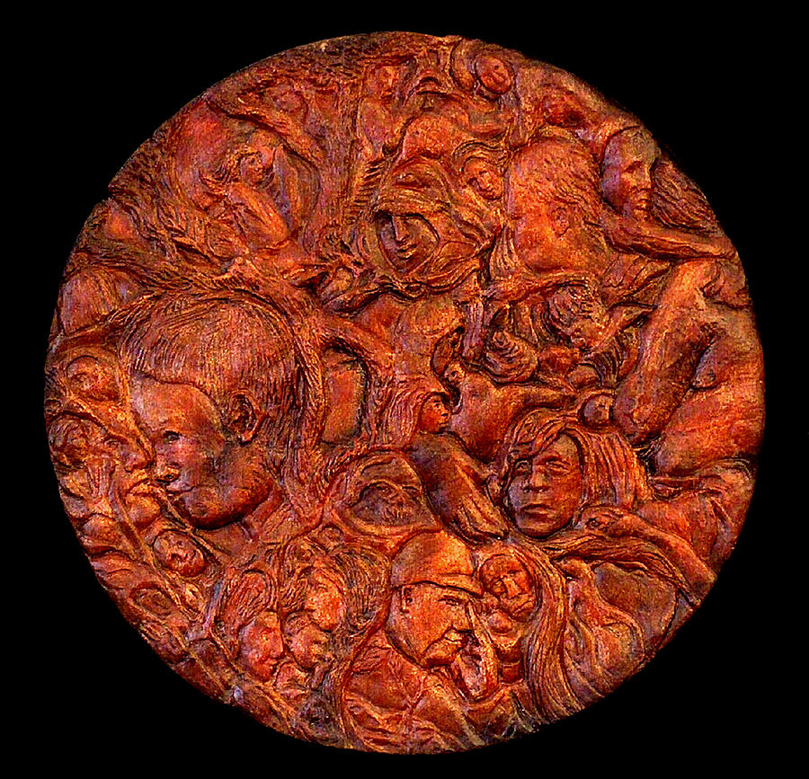 Intermingled Images Of Birds Relief - Roundabout by Deanna Nash