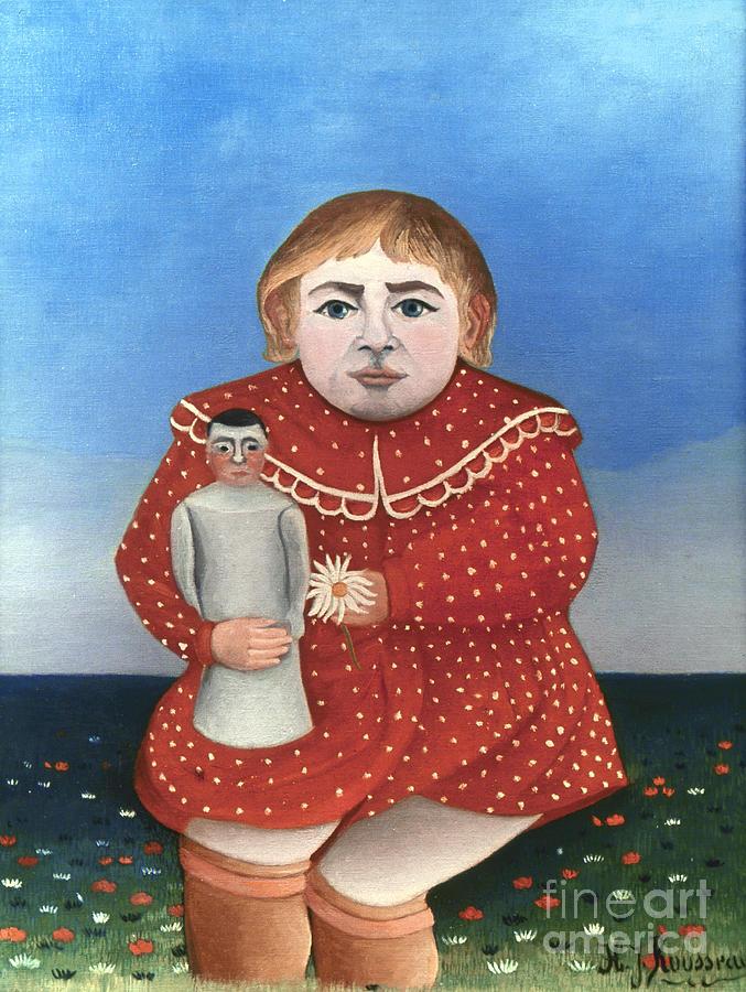 Rousseau: Child/doll, C1906 Photograph