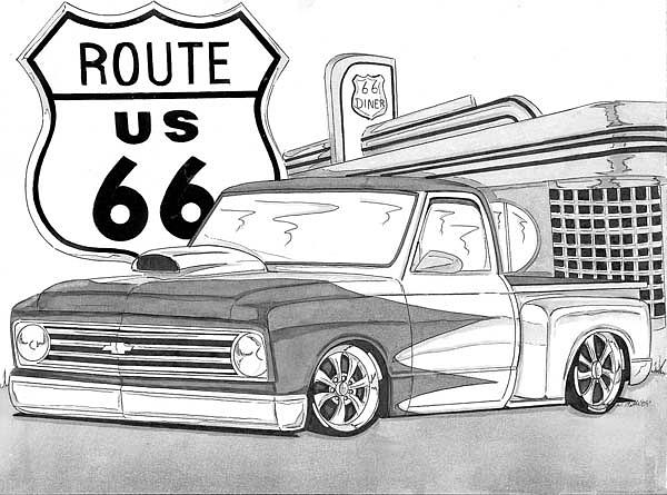 Displaying  16  Gallery Images For Lowrider Trucks Drawings   Lowrider Chevy Truck Drawings