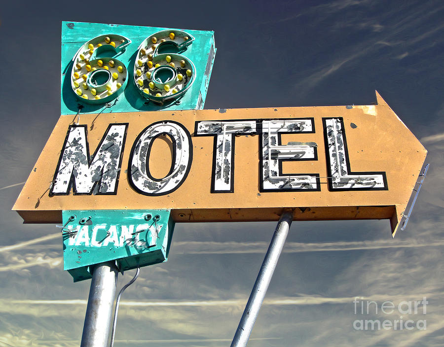 Route 66 Motel Sign Painting