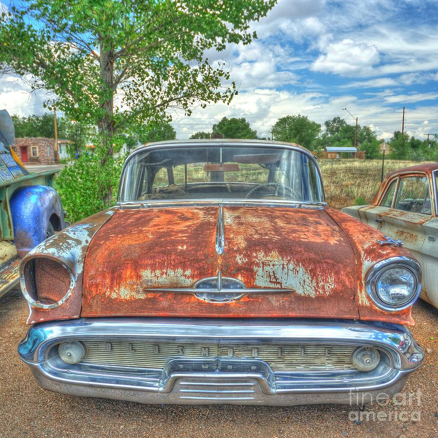 Route 66 Oldsmobile Photograph