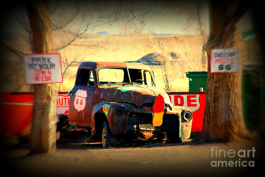 Route 66 Photograph - Route 66 Parking Lot by Susanne Van Hulst
