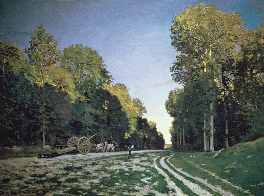 Monet Landscape Field Route De Chailly Paint...