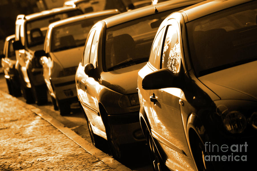 Row Of Cars Photograph  - Row Of Cars Fine Art Print