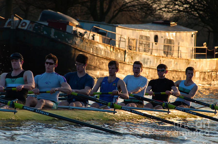 Rowers At Sunset Photograph