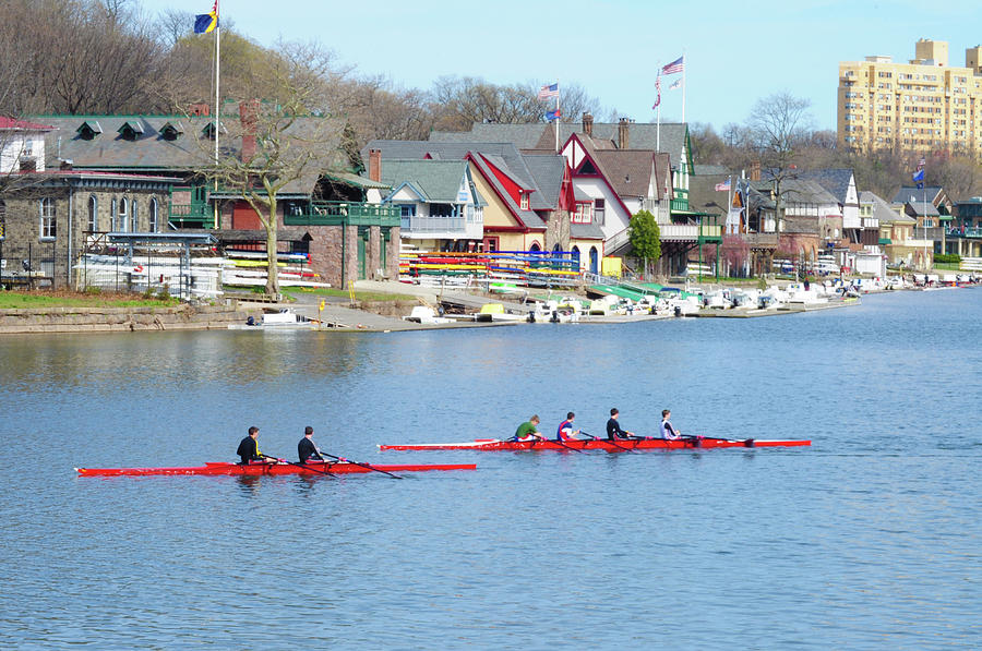 Rowing Along The Schuylkill River Photograph  - Rowing Along The Schuylkill River Fine Art Print