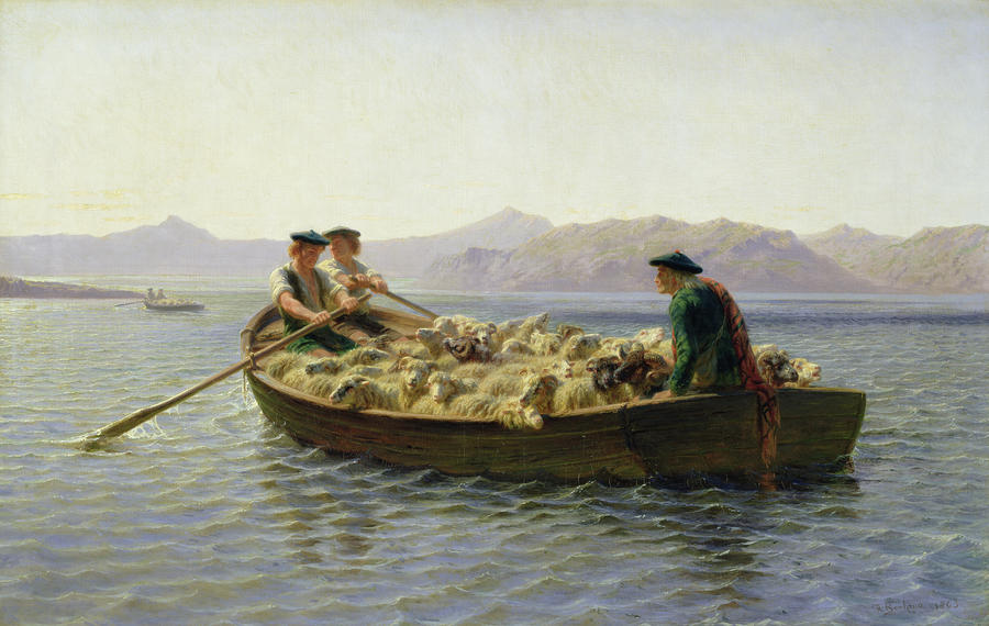 Rowing Boat Painting