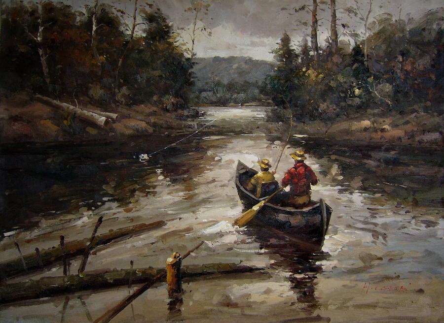 Rowing Boat by Santin Art