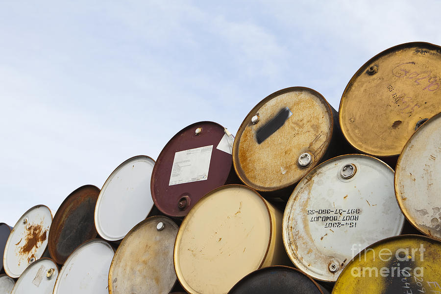 Rows Of Stacked Barrels Photograph