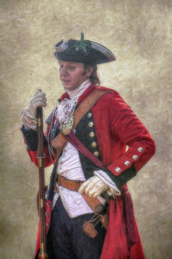 Royal Americans Officer Portrait  Digital Art