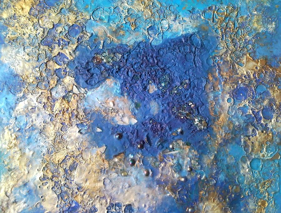 Royal Blue Stain Mixed Media