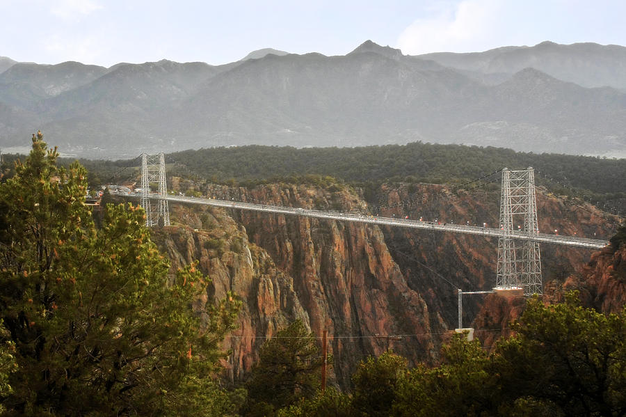 Suspension Bridge Photograph - Royal Gorge Bridge Colorado - The Worlds Highest Suspension Bridge by Christine Till