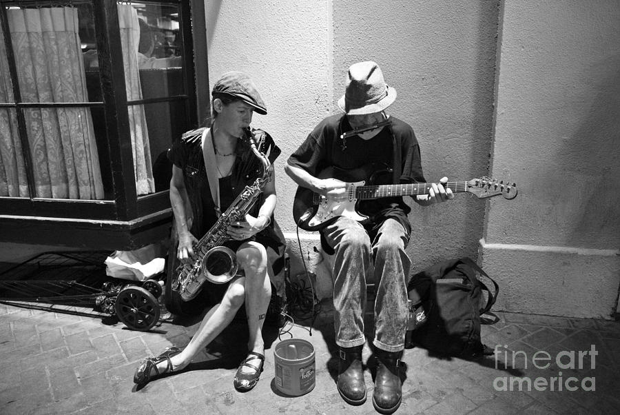 New Orleans Photograph - Royal Street Music by Leslie Leda