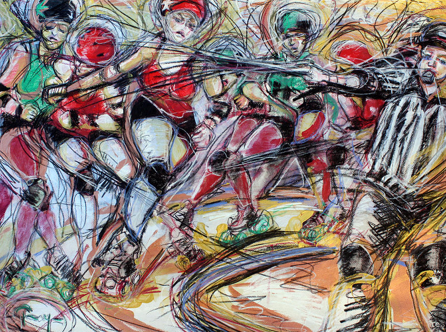 Rubber City Roller Girls Mixed Media