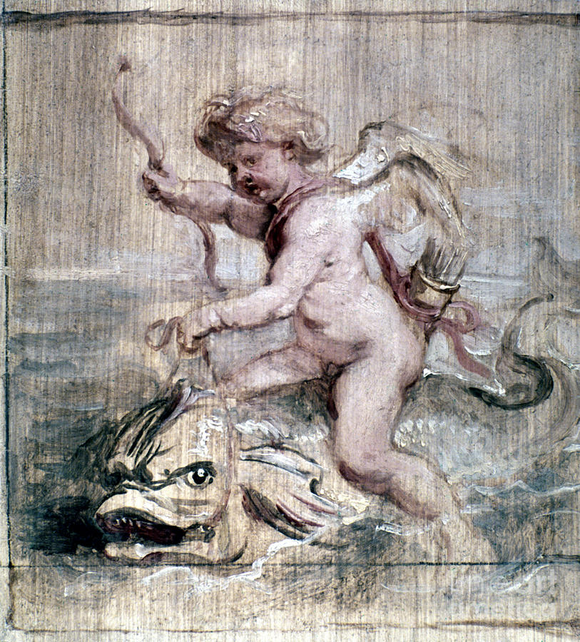 Rubens: Cupid On Dolphin Painting