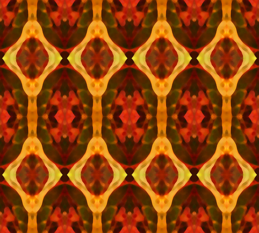 Ruby Glow Pattern Painting