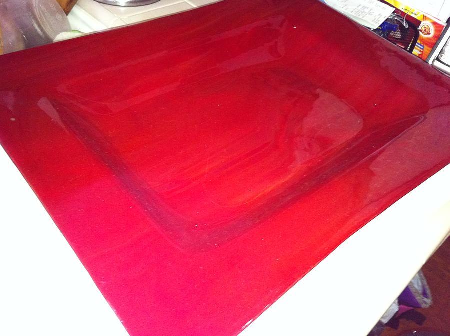 Ruby Red Glass Art