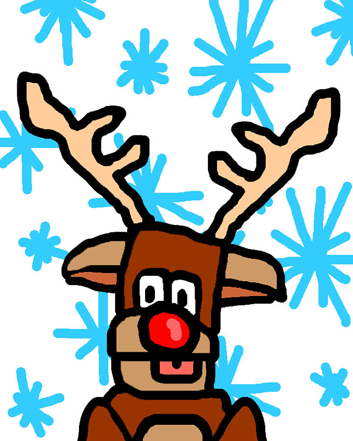 Rudolph Drawing - Rudolphs Portrait by Jera Sky