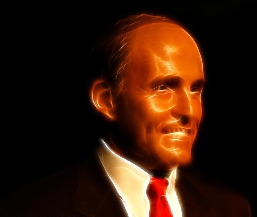 Lee Dos Santos Photograph - Rudy Giuliani - Rudolph William Louis Giuliani by Lee Dos Santos