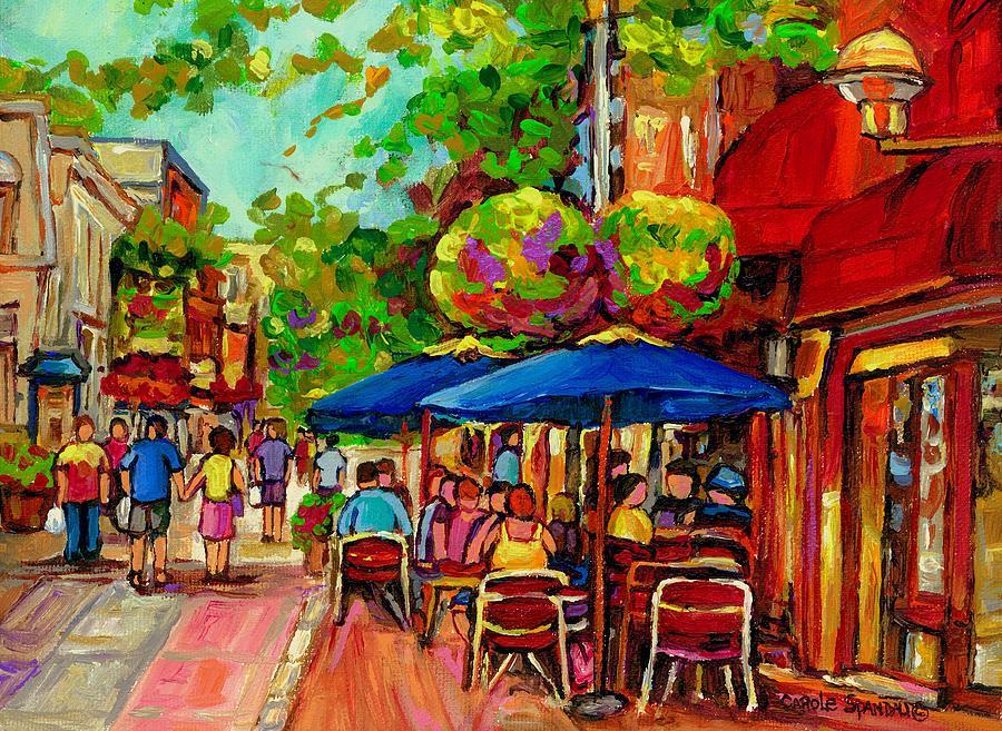 Rue Prince Arthur Montreal Painting