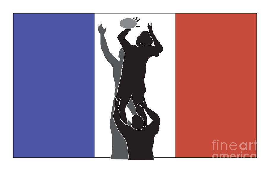 Rugby France Digital Art  - Rugby France Fine Art Print