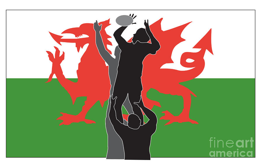 Rugby Wales Digital Art