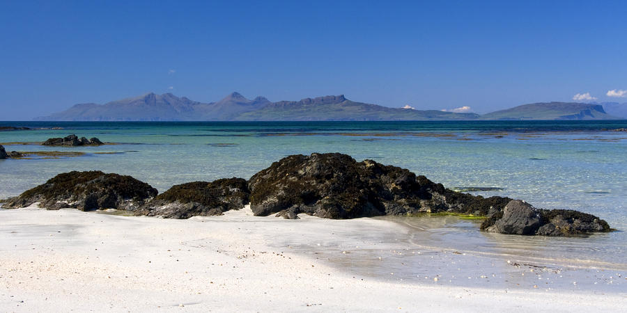 Rum And Eigg From Achateny Beach Photograph  - Rum And Eigg From Achateny Beach Fine Art Print
