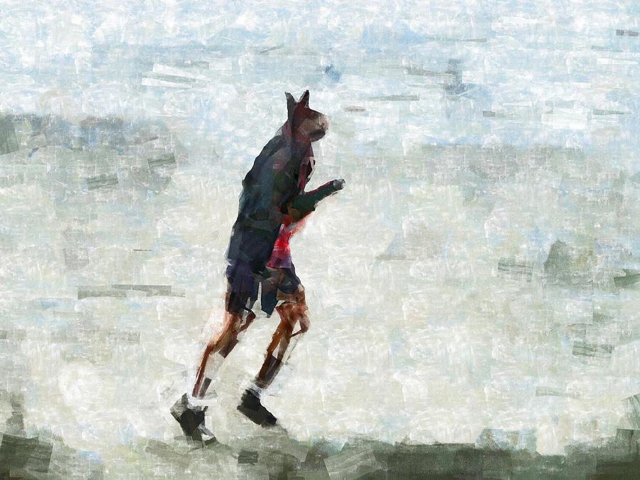 Run Rabbit Run Digital Art