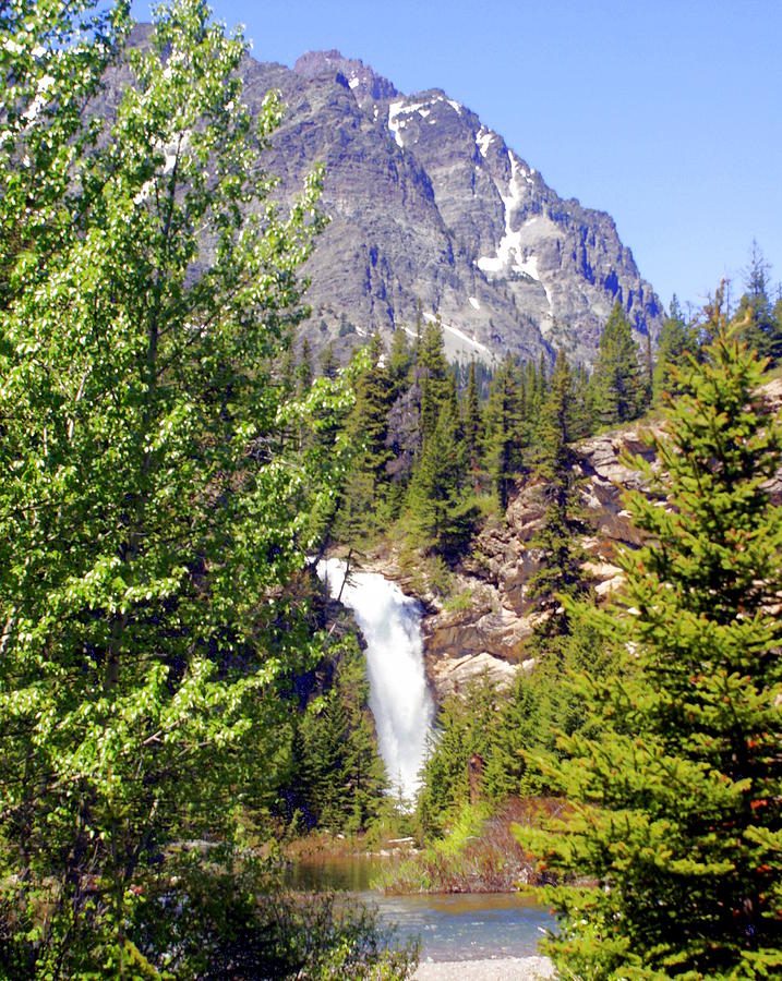 Running Eagle Falls Glacier National Park Photograph  - Running Eagle Falls Glacier National Park Fine Art Print