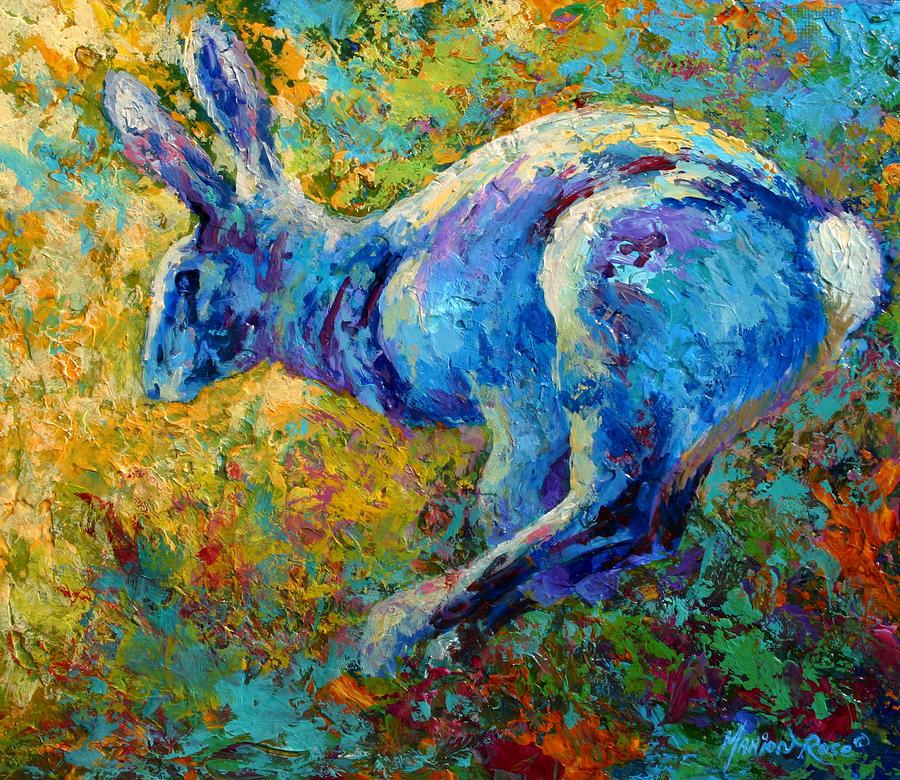 Running Hare Painting