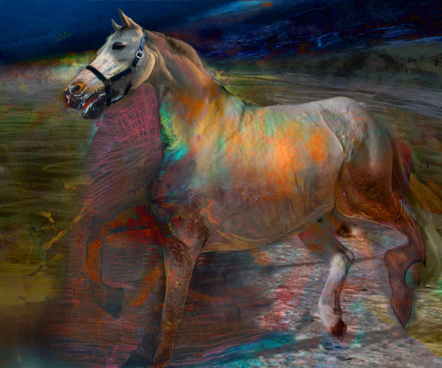 Running Horse Digital Art