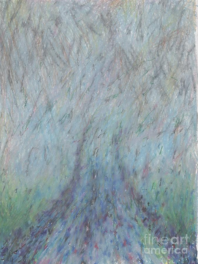 Running Into Fog Drawing  - Running Into Fog Fine Art Print