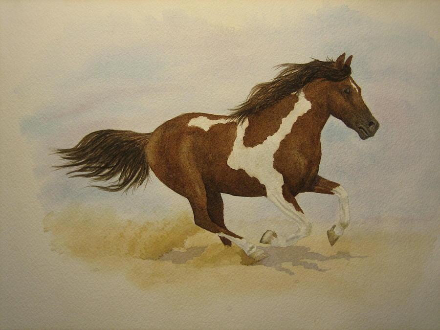 Running Paint Painting