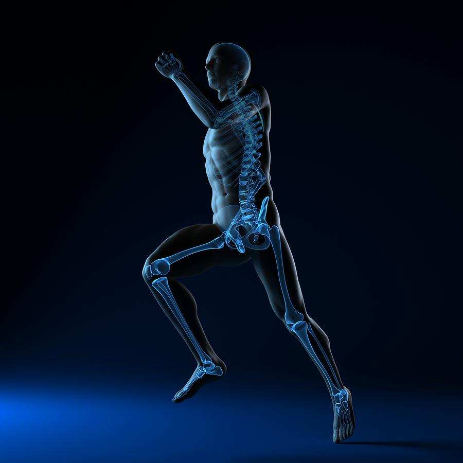 Running Skeleton, Artwork Photograph