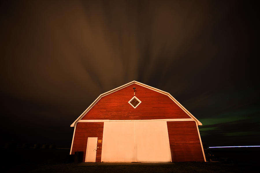 Rural Barn Night Photograhy Digital Art  - Rural Barn Night Photograhy Fine Art Print