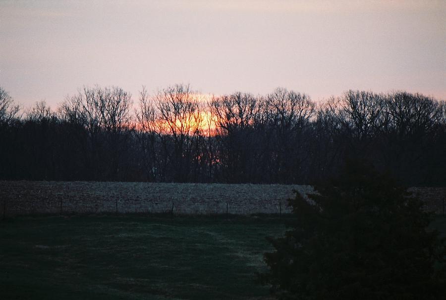 Rural Illinois Sunset Photograph