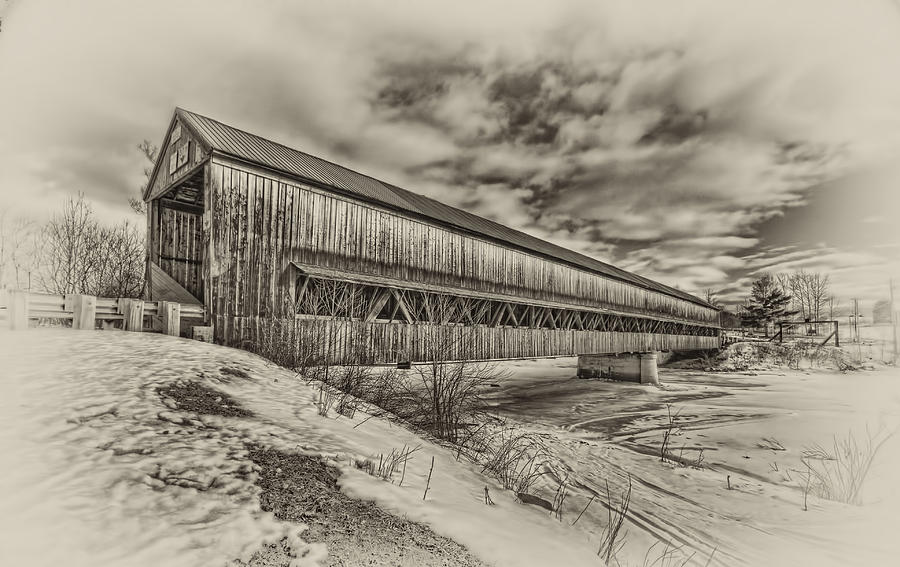 Rusagonish Covered Bridge Photograph  - Rusagonish Covered Bridge Fine Art Print