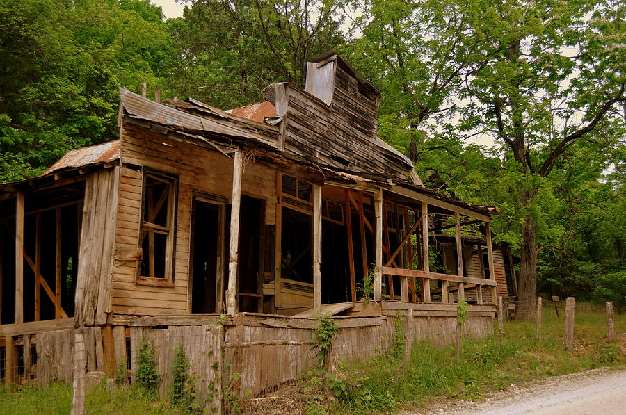 Old Photograph - Rush General Store by Marty Koch