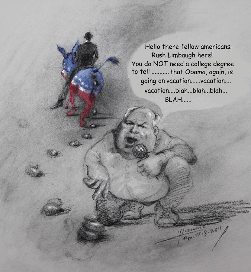 Rush Limbaugh After Obama  Mixed Media