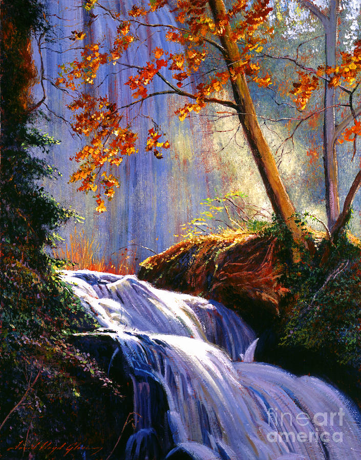 Rushing Waters Painting  - Rushing Waters Fine Art Print