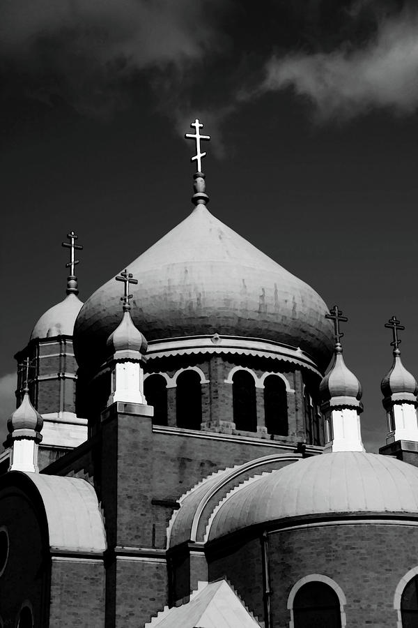 Russian Orthodox Church Bw Photograph  - Russian Orthodox Church Bw Fine Art Print