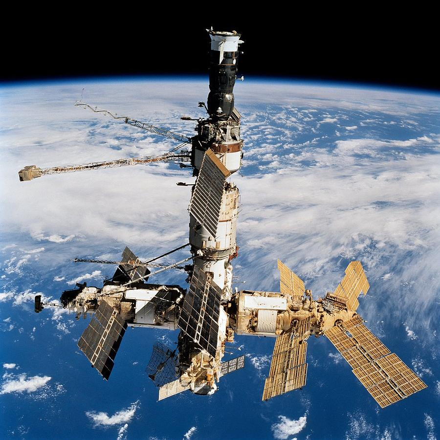 Russian Space Station Mir. Photo Photograph