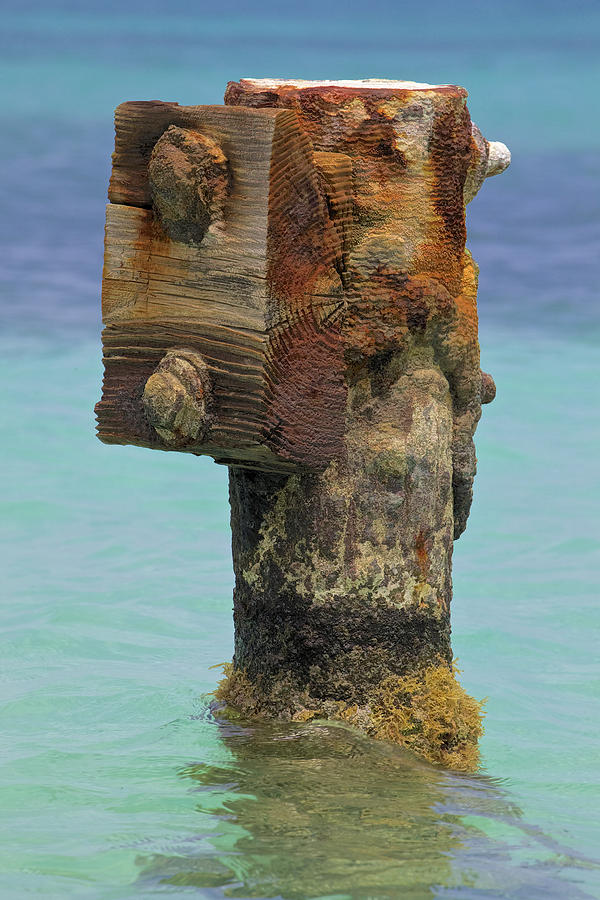 Rusted Dock Pier Of The Caribbean Iv Photograph  - Rusted Dock Pier Of The Caribbean Iv Fine Art Print