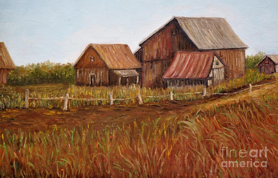 Rustic Barns Painting  - Rustic Barns Fine Art Print