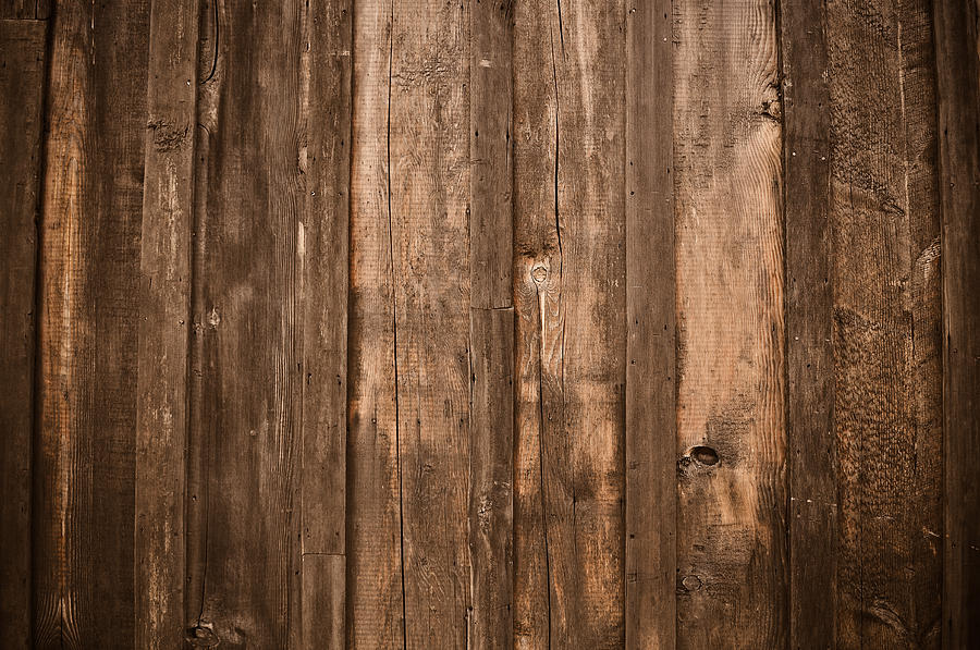 Rustic Dark Wood Background Photograph by Brandon Bourdages